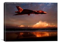Vulcan at Sunset, Canvas Print