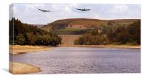 Two Over Howden Dam, Canvas Print