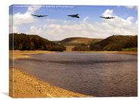 Three Over Howden, Canvas Print