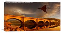 Vulcan Over Ladybower , Canvas Print