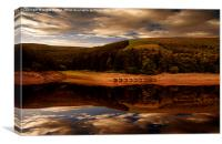Ouzelden Clough , Canvas Print