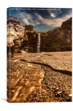 Tintagel Waterfall, Canvas Print