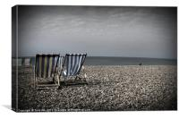 Brighton Deck Chairs, Canvas Print