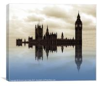 Westminster afloat, Canvas Print