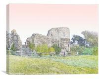 Pevensey's Roman castle, Canvas Print