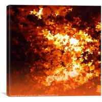 Impressionistic Fire, Canvas Print