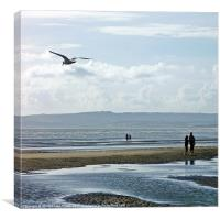 Day at the beach, Canvas Print