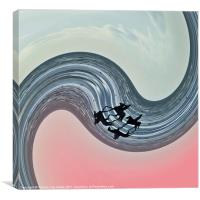 Riding the wave, Canvas Print