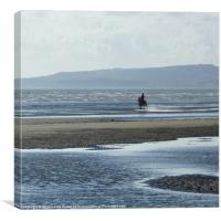 Race against the tide, Canvas Print