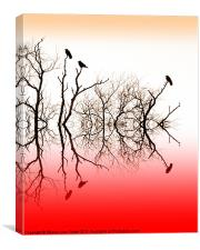 Red roost, Canvas Print
