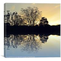 Evening reflections, Canvas Print