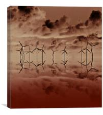 Wind powered clouds, Canvas Print