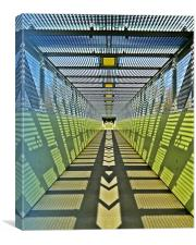 Pedestrian bridge, Canvas Print