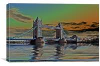 Solarised Tower Bridge, Canvas Print