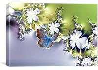 Botanical Flutters, Canvas Print