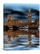 A rainy day in London, Canvas Print