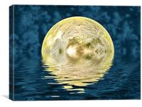 Golden moon, Canvas Print