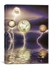 Galactic storm, Canvas Print