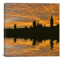 London's burning, Canvas Print