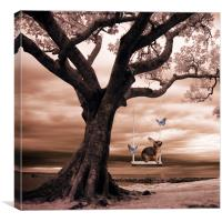 Woodland swing, Canvas Print