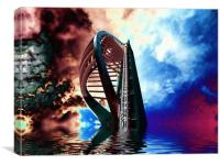 Apocalyptic Spinnaker, Canvas Print