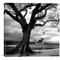 Woodland swing mono, Canvas Print