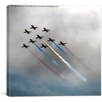 Red Arrows formation, Canvas Print