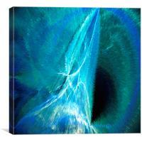Aqua light, Canvas Print