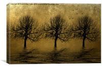 Bare gold, Canvas Print