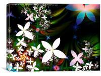 Moonlit petals, Canvas Print