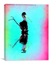 Neon Pelican, Canvas Print