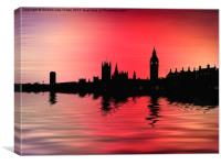 Crimson City 2, Canvas Print