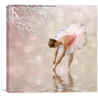 Dancer in water, Canvas Print