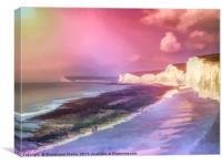 Seven colour Sisters, Canvas Print