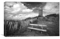 Scrabo tower, Newtownards, Northern Ireland, Canvas Print