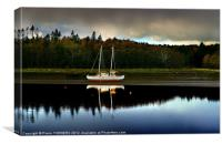 Boat waiting., Canvas Print