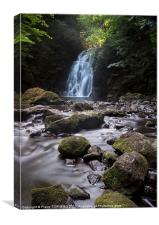 Gleno Waterfall, Canvas Print