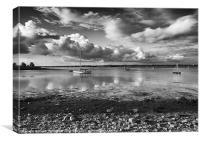 Kinvarra Harbour by day., Canvas Print
