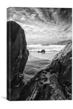 Rock on Dunquin beach, Dingle, Ireland., Canvas Print