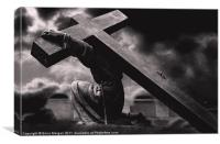 The cross., Canvas Print