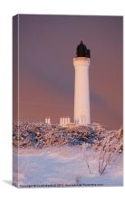 Covesea Lighthouse Winter Light, Canvas Print
