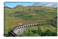 Glenfinnan Viaduct & Hogwarts Express, Canvas Print