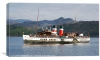 PS Waverley approaching Gairloch, Canvas Print