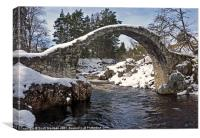 Old Pack Horse Bridge, Canvas Print