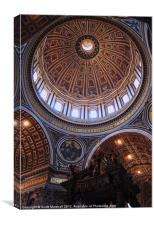Dome of St Peter's, Vatican City, Canvas Print