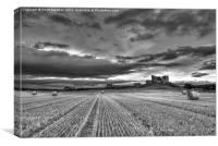 Duffus Castle Harvest, Canvas Print