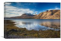 Beinn Alligin from Torridon, Canvas Print