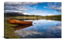 Arisaig Row Boat, Canvas Print