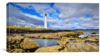 Scurdie Ness Lighthouse , Canvas Print