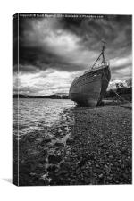 Wreck at Corpach, Canvas Print